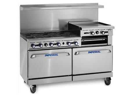 "Imperial Range 60"" 4 Burner Range With 36"" Griddle & Dual Convection Ovens"