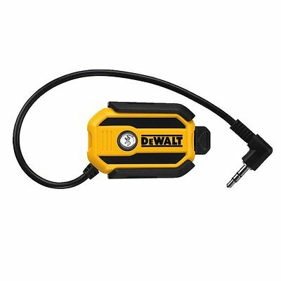 DEWALT DCR002 Wireless Bluetooth Mobile Phone/MP3 Music Stream Adaptor Radio Car
