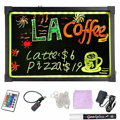 40 cm x 60 cm   LED Writing Board Sign Free 8 pack of Markers & Free Shipping