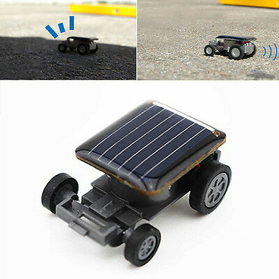H Smallest Mini Solar Powered Robot Racing Car Vehicle Toy Gadget Kids Xmas Gift