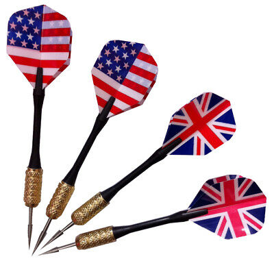 Hot 3pcs/set of Steel Needle Tip Dart Darts With Nice Flight Flights UK/US Flag
