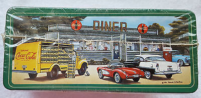 Coca-Cola 1991 Colorful Retro Tin Diner, Airport and Smiths Grocery, Sealed