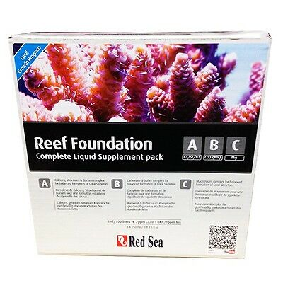 RED SEA Reef Foundation A B C Complete Liquid Treatment Marine Pack 3 x 250ml