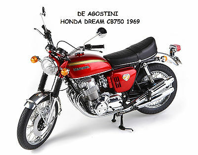 Altaya De Agostini 1/4 Model Kit Bike Honda Cb750 K0 1969 Cb 750 New In Box Rare