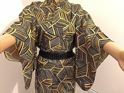 Authentic Japanese mixed colours kimono for women, Japan import (G779)