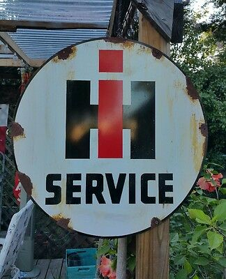 Antique Vintage Old Look International Harvester Service Sign Rusted Look 24""