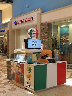 Mall Kiosk for Ice Cream-Italian Ice-Novelty Items-Specialty Steaks-Mini Melts