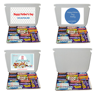 27 Large Personalised Chocolate Gift Box Gift Hamper For Valentines Day Birthday