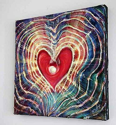 "Good Luck in Love Gift that ends in aahh... ""Light of Love"" - Fine Art Painting"