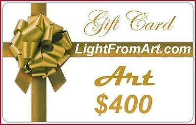 The only Good Luck Art Gift Card Certificate that ends in aahhhh......value $400