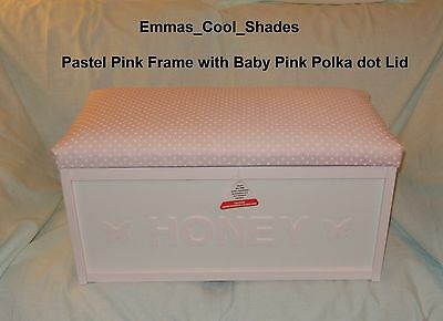 Personalised Wooden Toy Box Fire Retardent interliner Girls Boys child Assembled