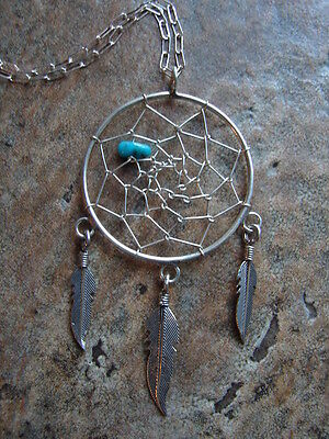 Native American Style Dream Catcher Necklace
