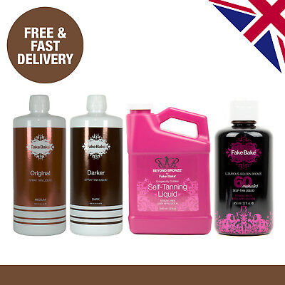 Fake Bake Spray Tan Solution 946ml  | Original, Dark, 60 Minutes, Beyond Bronze