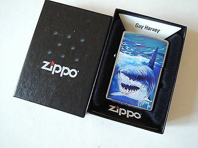 Authentic Zippo Lighter - Guy Harvey shark 21052 - No Inside Guts Insert