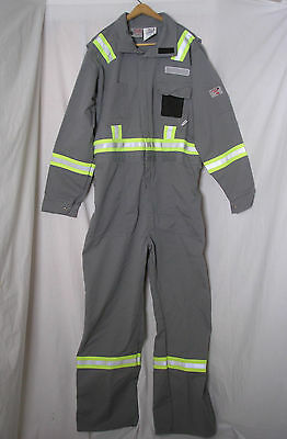 White Bear Workwear Fire Resistant Reflective Coveralls Mens 48T Safety Overalls