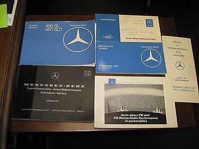 1977 Mercedes 450SL 450SLC Owners Manual