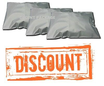 """200 Bags Of Quality Grey Strong Poly Mailing  Postage Postal Self Seal 12"""" X 16"""""""