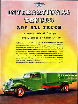 1934 International Truck Ad - $390 And Up ----t16