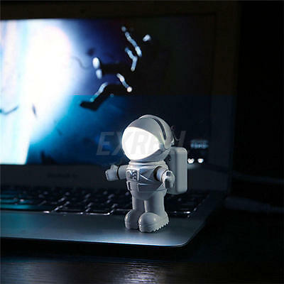 Flexible Astronaute Lumineux Mini USB Light Lampe LED pr Ordinateur Portable PC