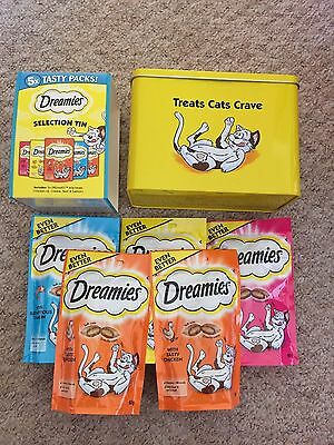 Dreamies Cat Treats Limited Edition Selection Tin (Inc 5x 60g Packs)