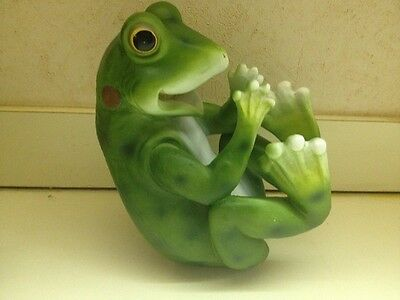 "Frog Grog 10.25"" Long Funny Toad Wine Holder Cute Guzzler Kitchen Home Decor-NEW"