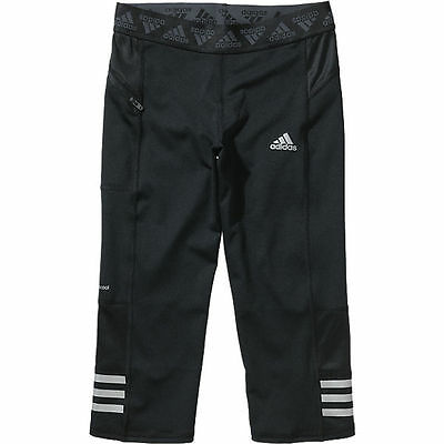 adidas girls performance black 3/4 running leggings. 3/4 legging. Various sizes!