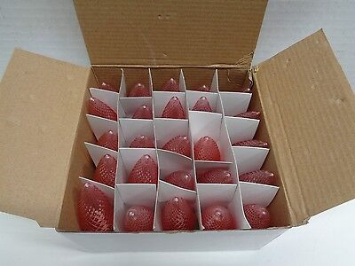 LED C9 LED Light BULB RED Faceted CHRISTMAS Replacement 5 Diode NEW BOX OF 25