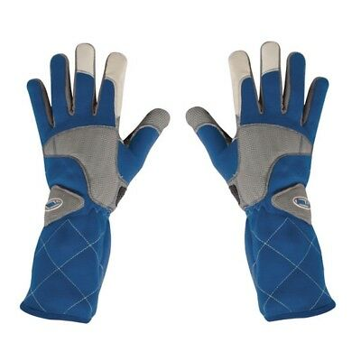 Bell Apex II Nomex Racing Gloves SFI 3.3/5 Rated, Blue, Size Large