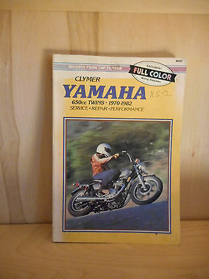 Yamaha 650 twin 1970-1982 service manual - VG Condition
