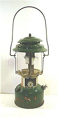 Vintage Green Coleman Double Mantle Gas Lantern Model 220 J Dated July 1978