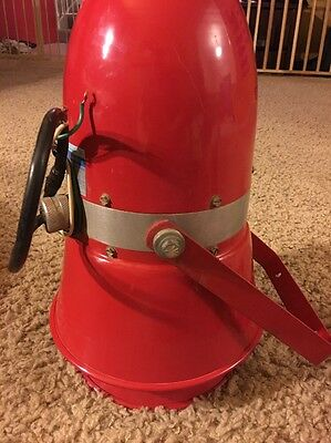 Edwards' Siren 315A-AH Red  Motor Driven Working In Used Condition