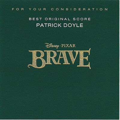 Brave - Disney Pixar For Your Consideration FYC - Used RARE CD Score Soundtrack