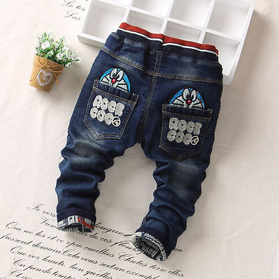 1PC Baby Boys Girls Bottoms Toddler Kids Boy Girl Clothes Jeans Denim Trousers