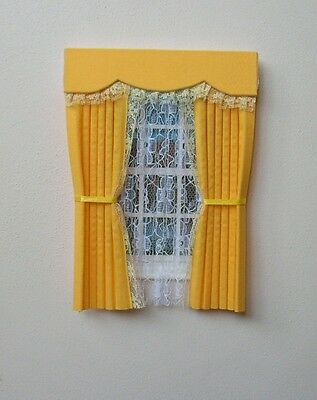 Dolls House Curtains Buttercup With Full  Nets