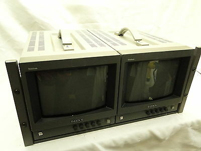 Dual Sony Trinitron Color Video Monitor Pvm-8040 * Tested - Working *