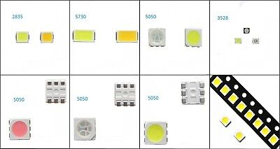 SMD SMT LED 5050 2835 5730 Multi-Color Emitting Diode White/Red/Blue/Green/RGB