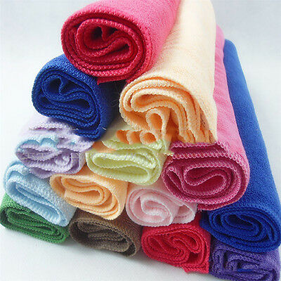 10Pcs Microfibre Cleaning Cloth Towel Car Valeting Duster Kitchen Wash Reliable