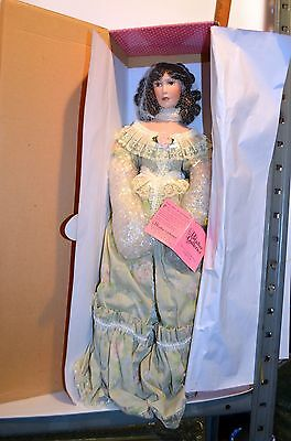 "Paradise Galleries Collectible Porcelain Victorian Musical Doll ""Ashley"" NIB"
