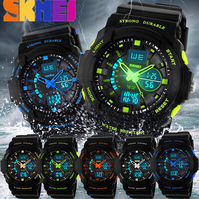 SKMEI Multi-Function Cool Sports Watch Analog Digital Waterproof Alarm Military