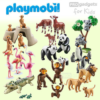 Genuine PLAYMOBIL Toy, Wild Zoo Animals Family Range Selection For Age 4+