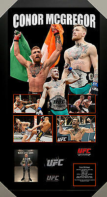 Conor Mcgregor Ufc Signed Framed Glove James Spence Authenticated - Avoid Fakes