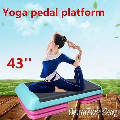 Adjustable Aerobic Exercise Step Yoga Fitness 3 Level Stepper Board Gym Workout