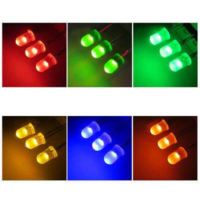Ultra Bright LEDs 5mm Red/Blue/Green/White/Yellow Lamp Emitting Diode - Free P&P