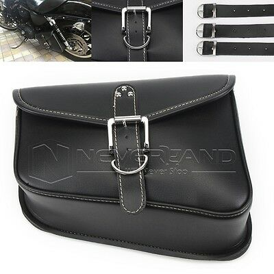PU Leather Left Side Saddlebag Saddle Bag For Harley Sportster XL 883 XL 1200