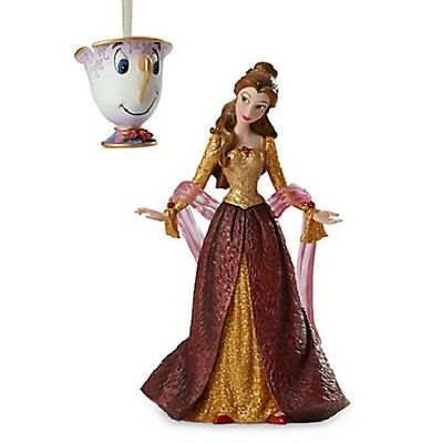 Disney Belle Couture De Force Holiday Figure Ornament Set Beauty And The Beast