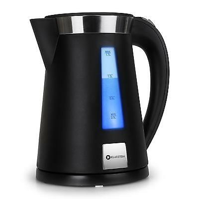 2200 W Cordless Electric Kettle 1.7 L Home Kitchen Boil Hot Water Tea Jug Black