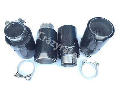 Glossy Carbon Fiber M Performance Exhaust Tips Muffler Pipe for BMW M3 M5 M6