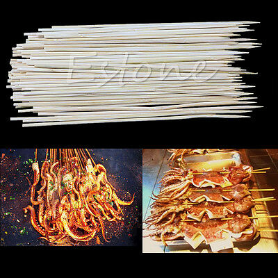 1 Pack 20cm Bamboo Skewers Grill Shish Kabob Wood Sticks Barbecue BBQ Cook Tools