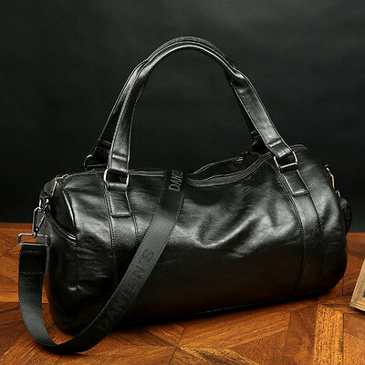 Leather Large Vintage Travel Gym Weekend  Bag Duffle Handbag Travel Bag Cossbody