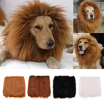 Large Pet Dog Costume Lion Mane Wig Hair For Halloween Clothes Fancy Dress Up
